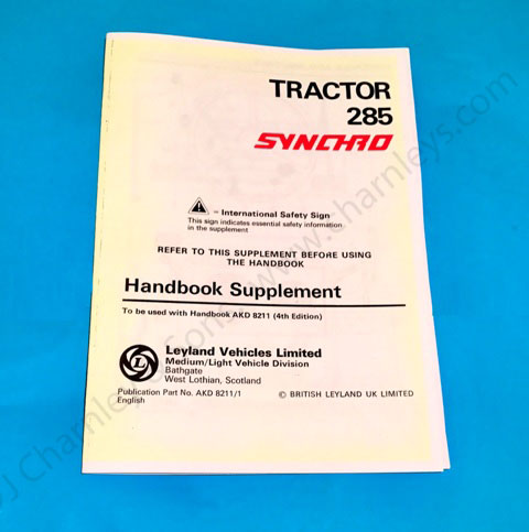 AKD8211/1 Leyland Synchro Handbook Supplement