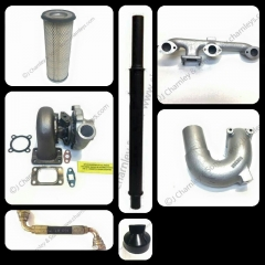 APUK Exhaust Silencer Pipe Black Enamel Compatible with Leyland Marshall 245 253 502 Tractor