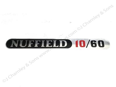 ATJ3145S NUFFIELD 10/60 STICK-ON BADGE