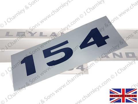 BTJ3658 LEYLAND 154 SIDE DECAL SMALL