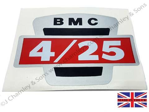BTJ3524 NAMEPLATE DECAL - BMC 425