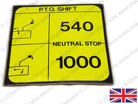 NTK221 DECAL -  PTO SPEED